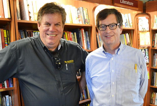 Howard Owens (left) and Dan Kennedy at Present Tense Books